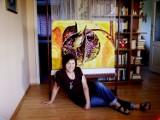"""Międzynarodowy Dzień Muzeów. Gobeliny Katarzyny Mantej (pt. """"Zrozumieć kolory"""") oraz Grażyny Kutzmann 2010 [Zdjęcia]"""