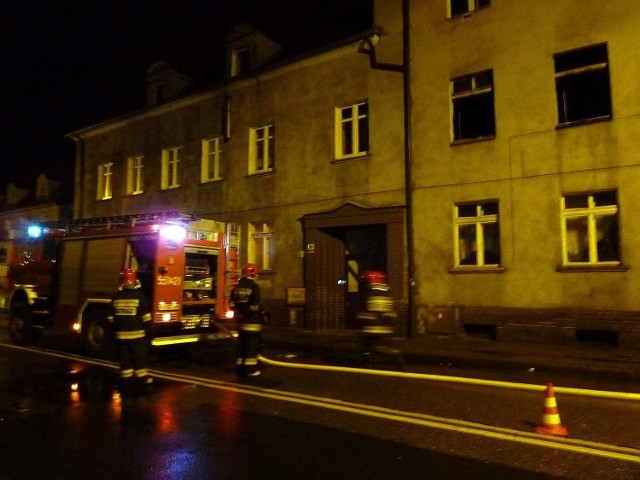 W akcji uczestniczyły dwa wozy strażackie