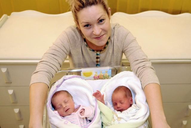 Eliza Świątek z córką Igą i synkiem Iwo