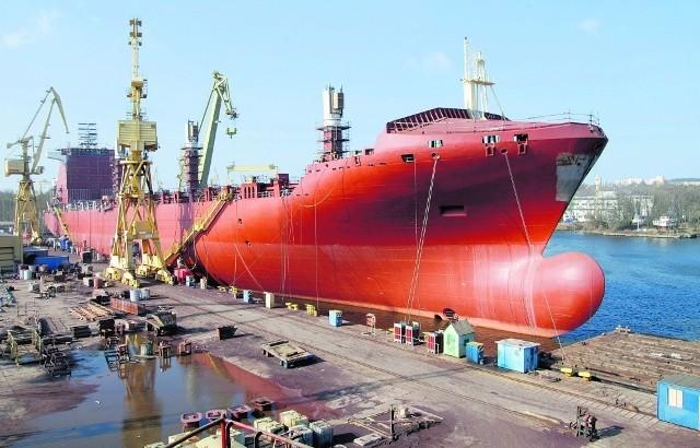 Kontenerowiec B 178 wyposażany w stoczni Gryfia