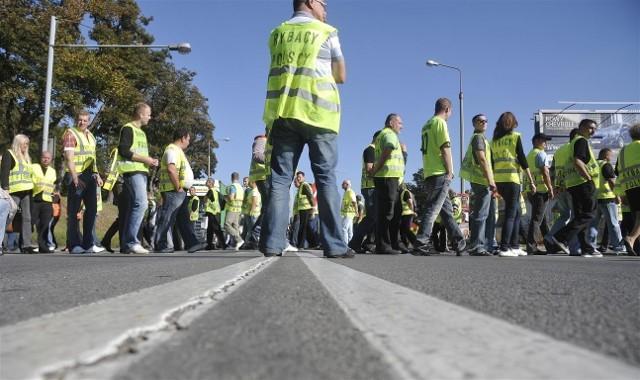 Protest rybaków na gdańskim Trakcie Św. Wojciecha we wrześniu tego roku
