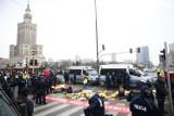 Protest aktywistów klimatycznych w Warszawie. Zablokowane centrum miasta