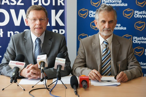 Dwie jedynki PO: Tomasz Nowak i Ireneusz Niewiarowski