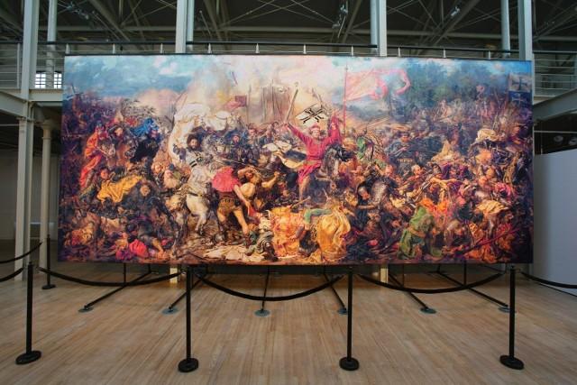 """Haftowana """"Bitwa pod Grunwaldem"""" w Centralnym Muzeum Włókiennictwa."""