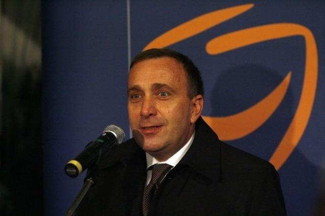 Grzegorz Schetyna przyjechał na inaugurację kampanii wyborczej w Legnicy