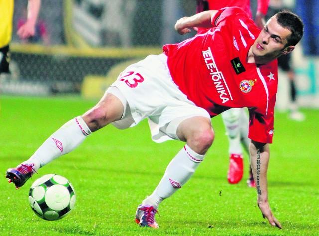 Paweł Brożek ma problemy zdrowotne, ale są szanse, że jednak zagra w dzisiejszym meczu z Odrą Wodzisław Śl.