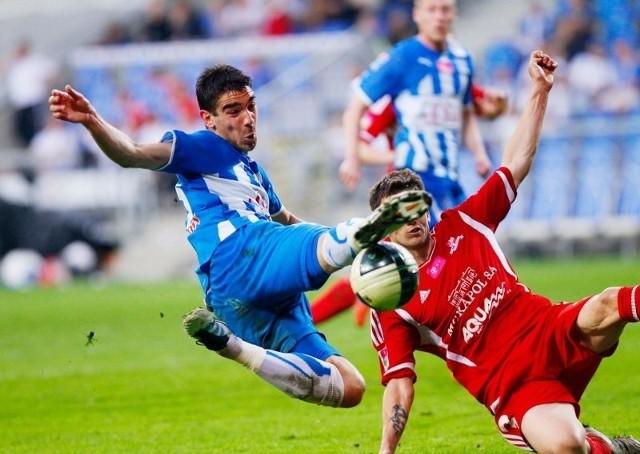 Vojo Ubiparip w meczu z Podbeskidziem kilka razy groźnie strzelał. Czy w meczu z Widzewem uda mu się trafić do bramki.