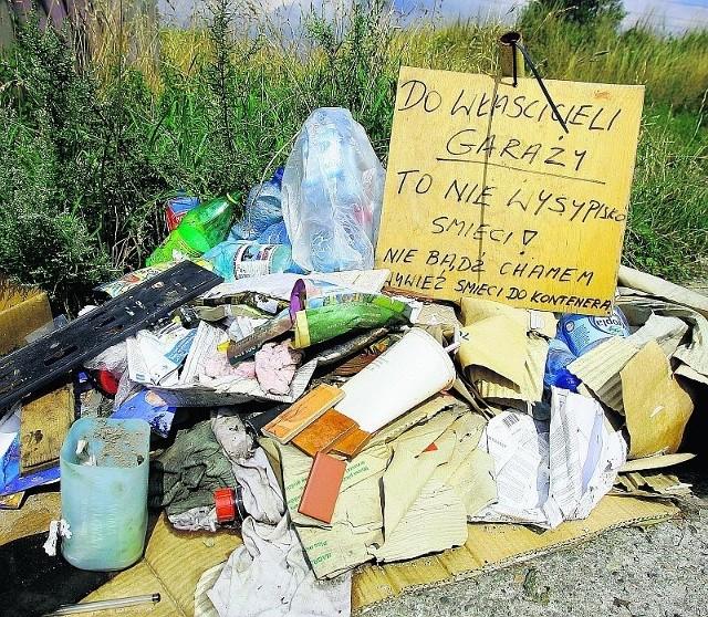 Tak jeden z wałbrzyszan zareagował na wyrzucanie śmieci