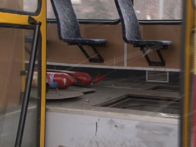 Na Kilińskiego przy Przybyszewskiego zapalił sie tramwaj