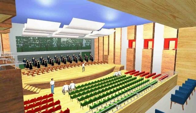 Wizualizacja sali koncertowej, na którą Sosnowiec chce pozyskać unijną dotację