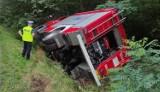 Wypadek strażaków z Wieruszowa. Policja poszukuje sprawcy
