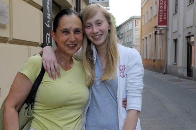Agnieszka Dacewicz z mamą