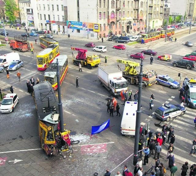 Skrzyżowanie Kościuszki i Mickiewicza należy do najniebezpieczniejszych skrzyżowań w Łodzi