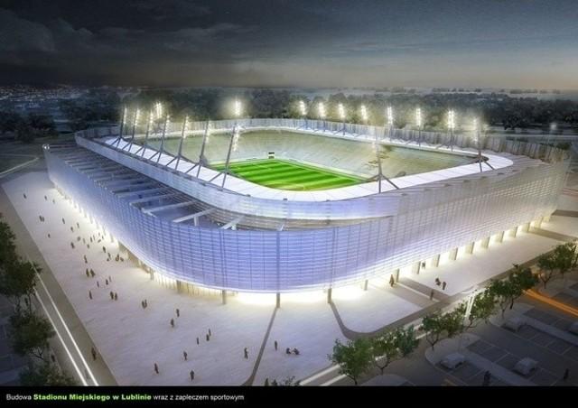 Wizualizacja stadionu przy Krochmalnej w Lublinie