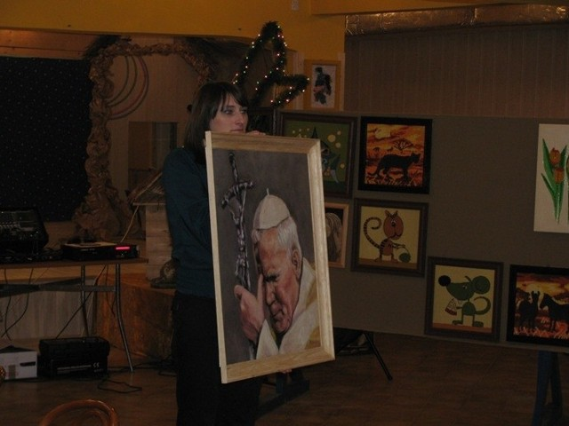 Najwięcej zapłacono za obraz przedstawiający Jana Pawła II