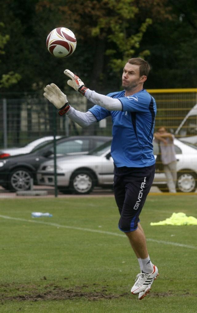 Andrzej Bledzewski ostatnio piłki łapał tylko na treningach