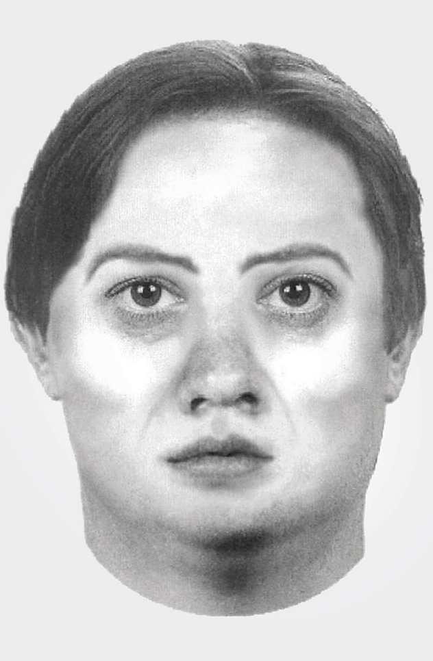 Policyjny portret pamięciowy poszukiwanej kobiety