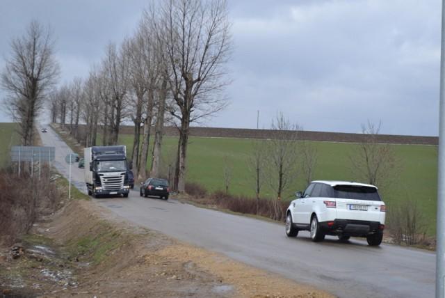 Droga powiatowa Woźniki - Lubsza.