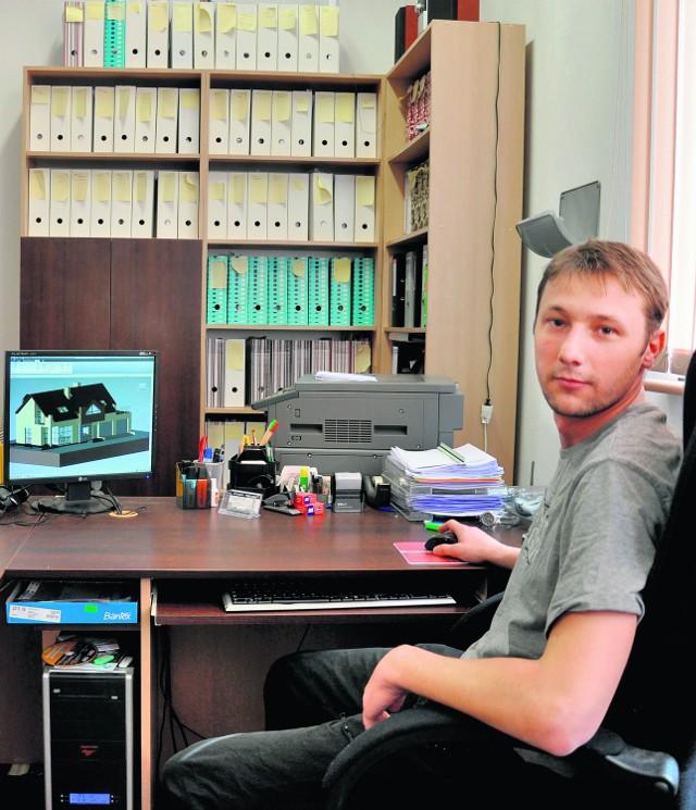 Sebastian Gałuszka z Rajska ma firmę projektową. Chwali sobie warunki w inkubatorze