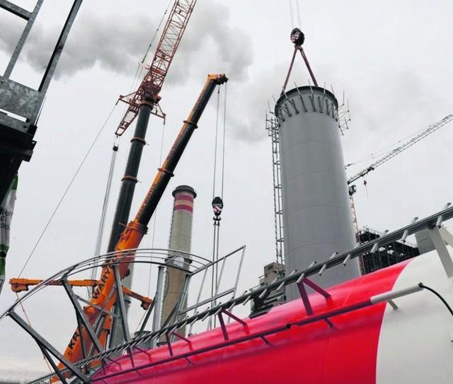 Elektrownia Konin rozpoczęła testy nowego kotła na biomasę