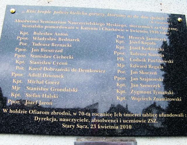 Katyńska lista absolwentów Seminiarum Nauczycielskiego