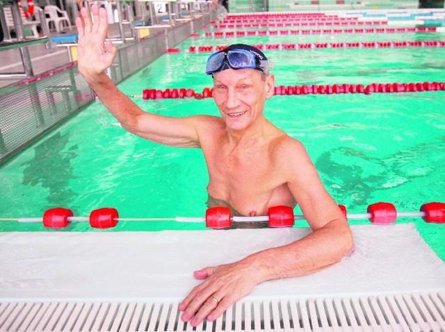 Jan Ślężyński na basenie spędza wiele godzin