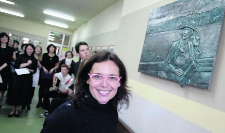 W uroczystości nadania szkole imienia Agnieszki Osieckiej...