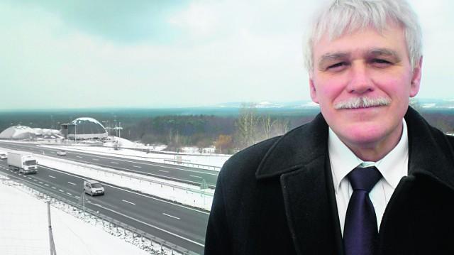Burmistrz Alwerni Jan Rychlik obiecuje, że zrobi wszystko, by przyspieszyć budowę węzła w Rudnie