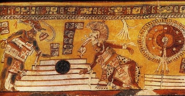 Aztekowie traktowali grę w piłkę z wielką powagą - jako ofiarę składaną bogom. Zawodnicy, który dryżyna przegrała, byli patroszeni żywcem.
