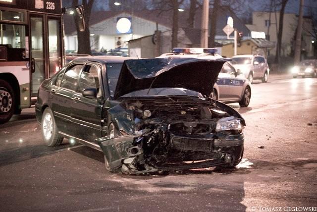 Wypadek na ul. Grabskiego w Lublinie