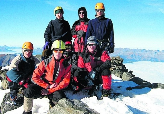 Manfred Tkocz (u góry z lewej) zginął. Michał i Adam (obaj na dole od lewej) przeżyli