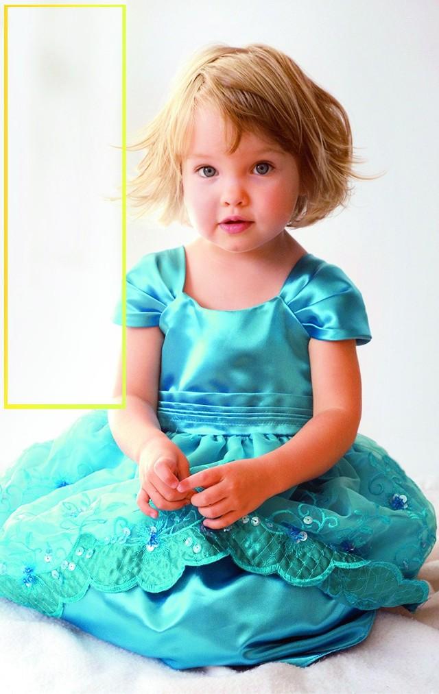 Duża jasna plama odwraca uwagę od twarzy fotografowanego dziecka