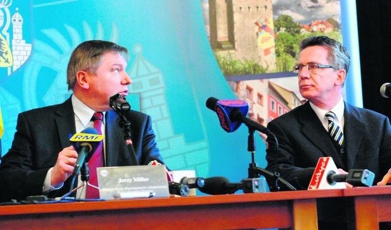 Ministrowie Jerzy Miller i Thomas de Maiziere zapowiedzieli  współpracę policjantów