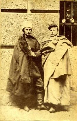 Uczestnicy Powstania Styczniowego uwięzieni w forcie Winiary: K. Chłapowski, J. Sypniewski, H. Duszyński, 12. 03. 1863 r.
