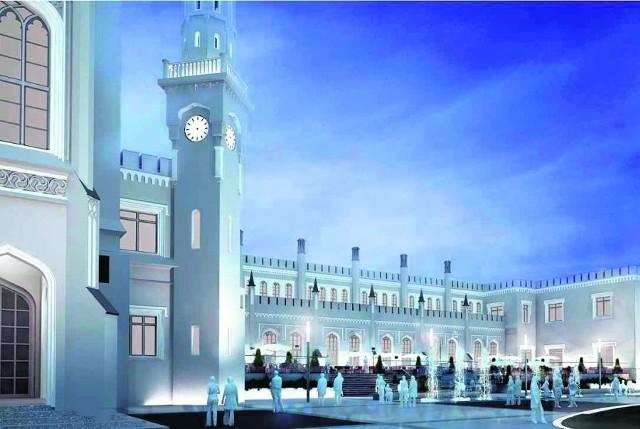 Tak w czerwcu 2012 roku ma się prezentować plac przed Dworcem Głównym, sam budynek będzie oświetlony