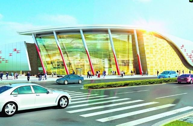 Galeria handlowa przy stadionie ma przypominać zjawisko zorzy polarnej