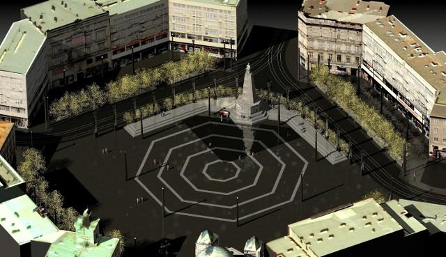 Plac Wolności - wizualizacja