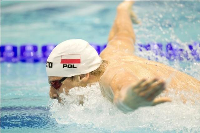 Konrad Czerniak (Wisła Puławy) nie miał sobie równych w Amsterdamie w eliminacjach na 100 m stylem motylkowym