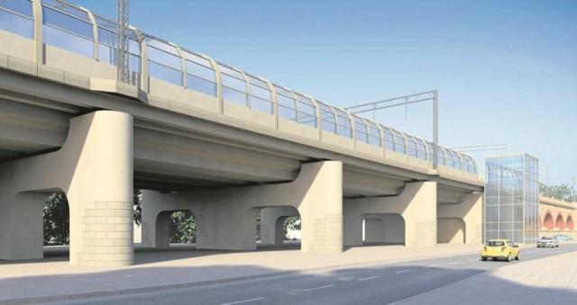 PKP PLK zbuduje estakadę kolejową z przystankiem na Grzegórzkach. Mieszkańcy nie chcą aby pod nią był sam beton