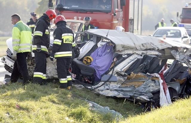 Wypadek na drodze krajowej nr 5 z Trzebnicy do Prusic