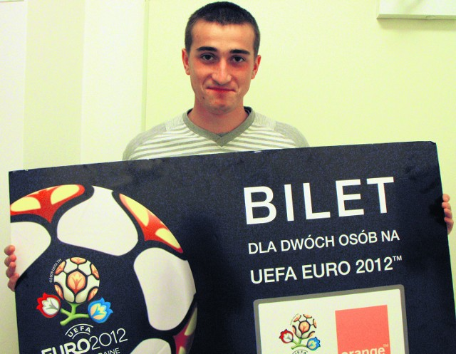 Bartłomiej Michowicz otrzymał bilet na Euro od Fundacji Mam Marzenie