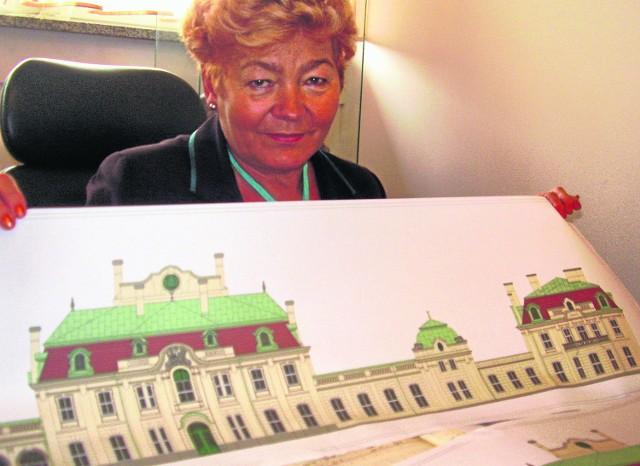 Odnowiony pałac Goetzów będzie wyglądał imponująco. - Piękny i zabytkowy obiekt nie straci jednak swojego dawnego charakteru - zapewnia Wiesława Urban