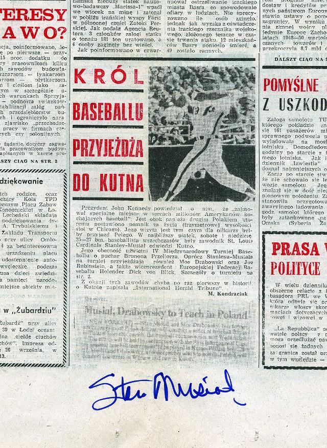 O wizycie gwiazdy baseballu rozpisywały się ówczesne gazety