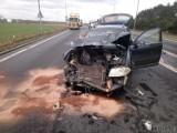 Opole. Toyota i volkswagen zderzyły się na obwodnicy w okolicy Centrum Handlowego Turawa Park