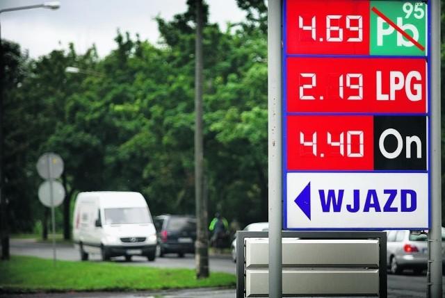 4,69 zł za litr - to najniższa cena benzyny, jaką znaleźliśmy przy wyjeździe z miasta nad morze