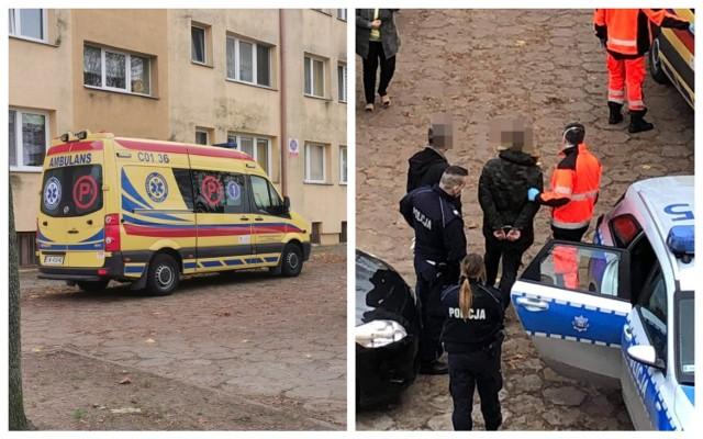 Akcja policji na ulicy Płockiej we Włocławku