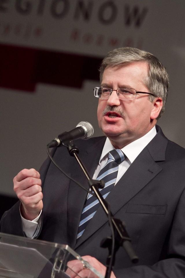 Prezydent Komorowski przyjedzie do Łodzi