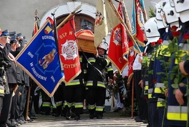 Druha Andrzeja żegnali wszyscy zgorzeleccy strażacy
