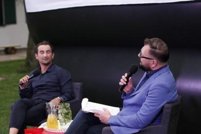 Filmowa kolacja w Zagrodzie Borowo spotkanie z Michałem Koterskim .