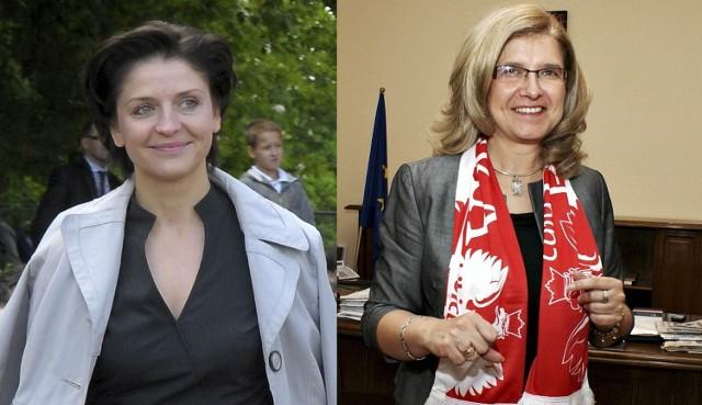 Joanna Mucha, minister sportu i turystyki oraz wojewoda Jolanta Szołno-Koguc